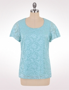 blue lace tee