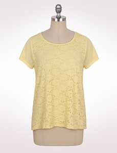 Yellow lace tee