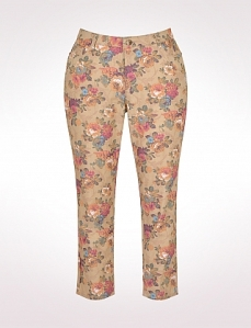 Flowered jeans